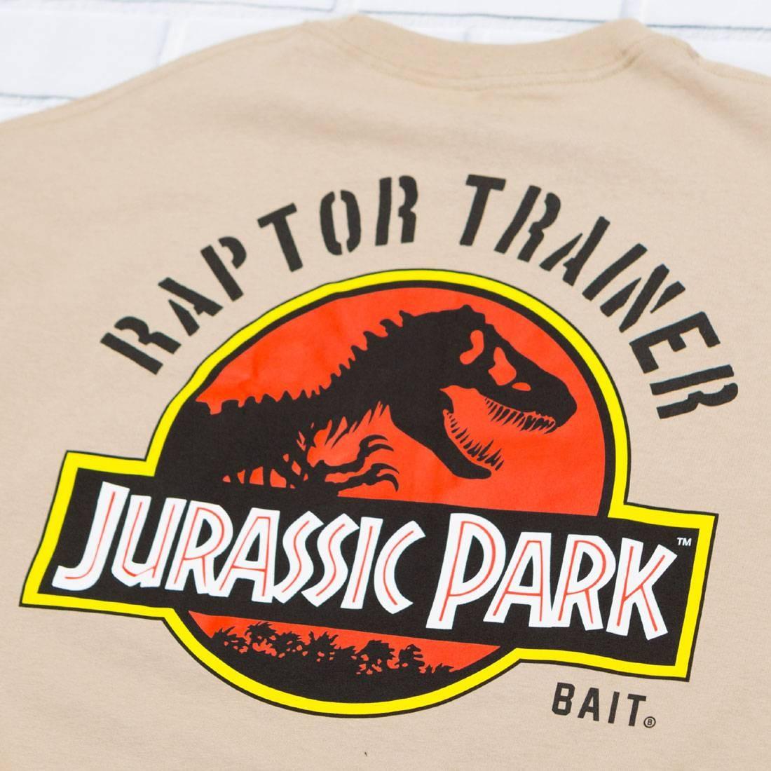 e9c4d2a3 BAIT x Jurassic Park Men Raptor Trainer Tee (tan / sand)