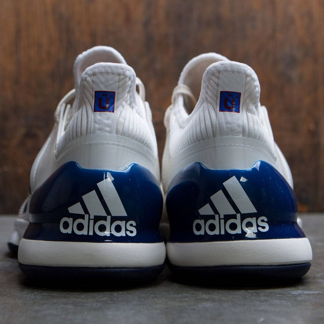 0f2df5959 Adidas x Pharrell Williams Men Adizero Ubersonic 2 (white   chalk white   dark  blue   scarlet)