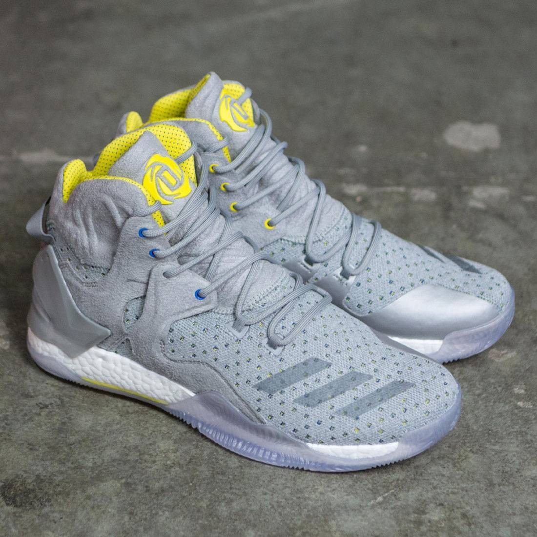 db157561d9a Adidas Consortium X SNS Men D Rose 7 Primeknit (grey   yellow)