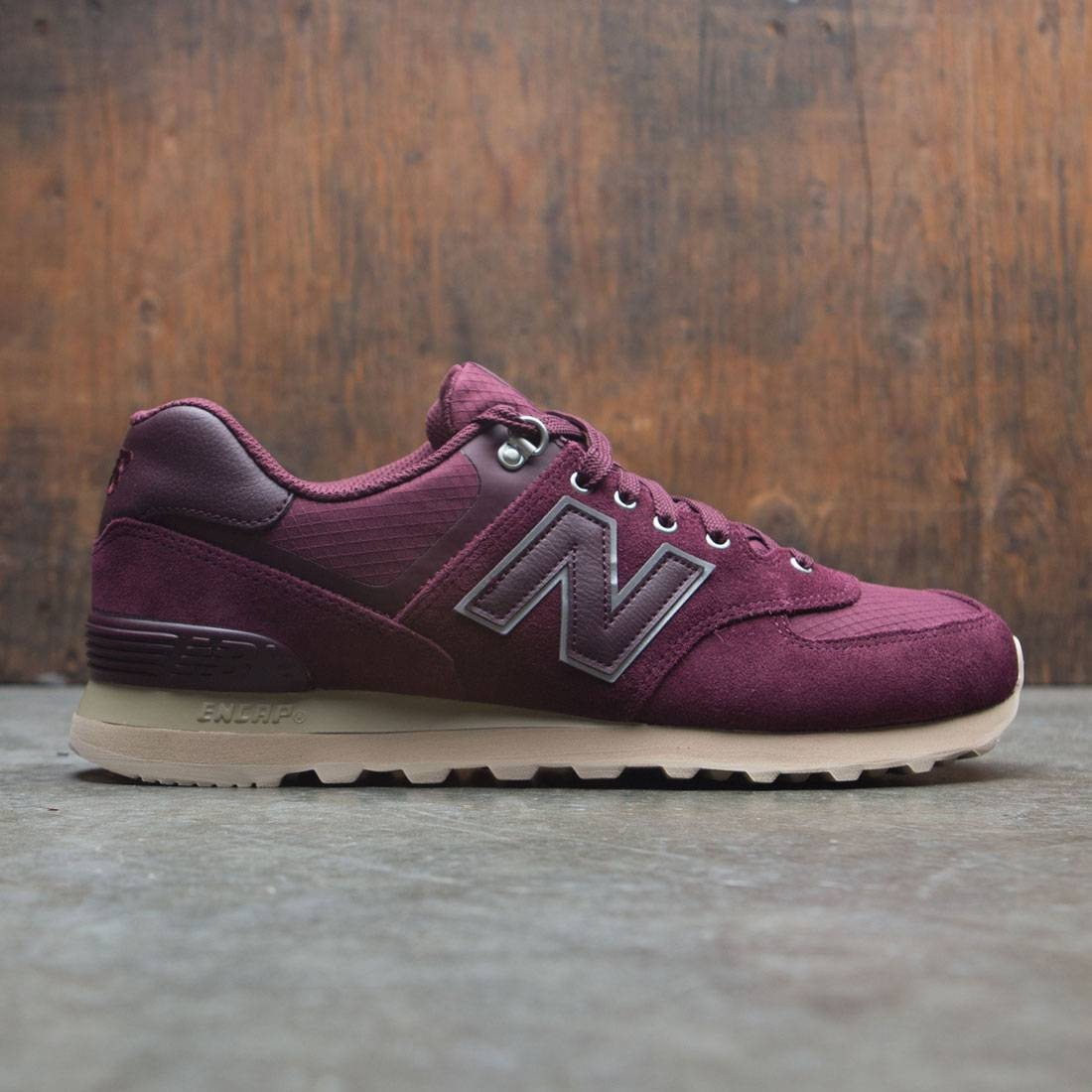 separation shoes 341f4 04519 New Balance Men 574 Outdoor Activist ML574PKS (burgundy / chocolate cherry  / sand)