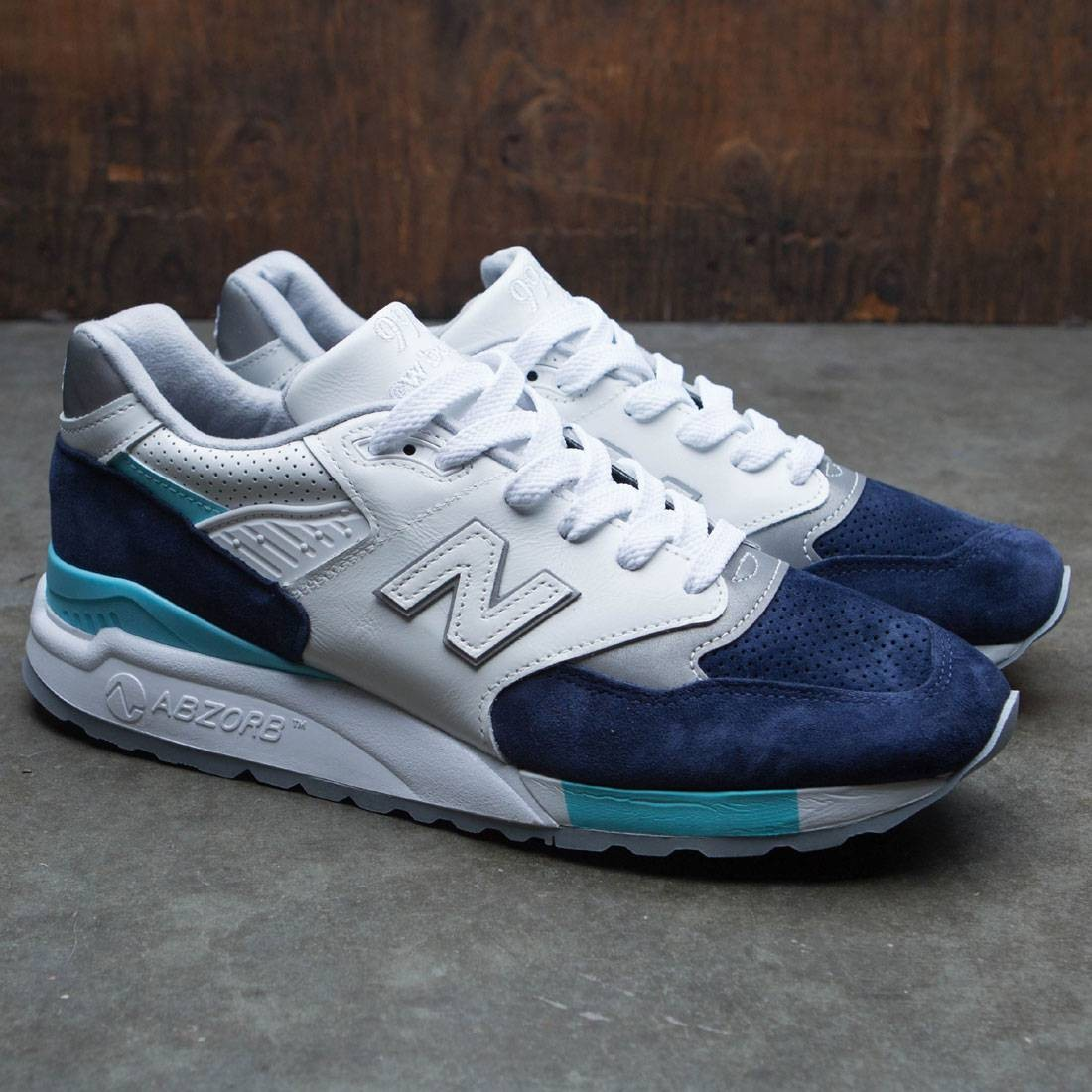 a940e831c400 New Balance Men 998 Winter Peaks M998WTP - Made In USA (white   navy   aqua)