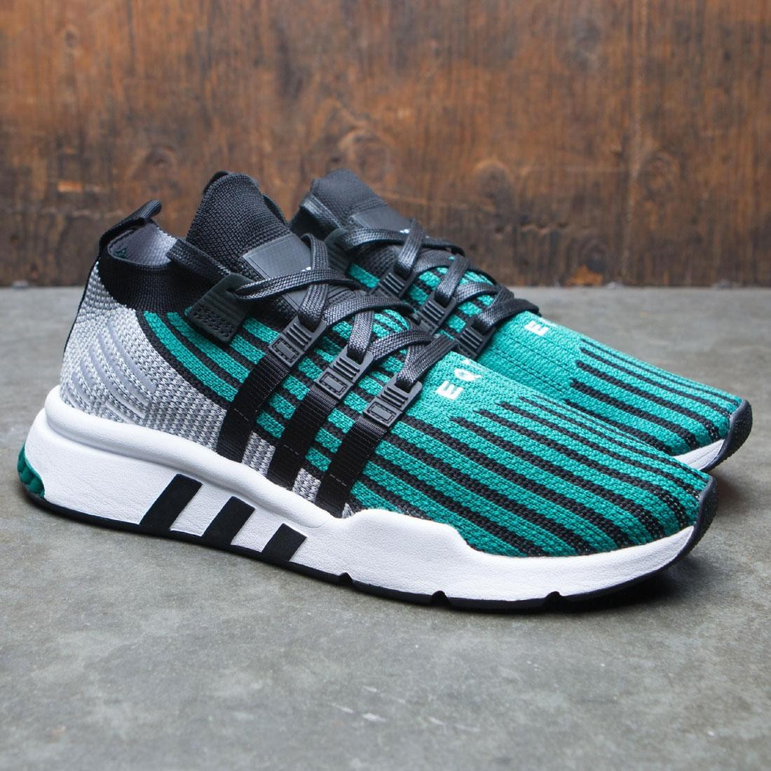 huge discount 7a60f f7559 Adidas Men EQT Support Mid ADV Primeknit (black  core black  sub green)