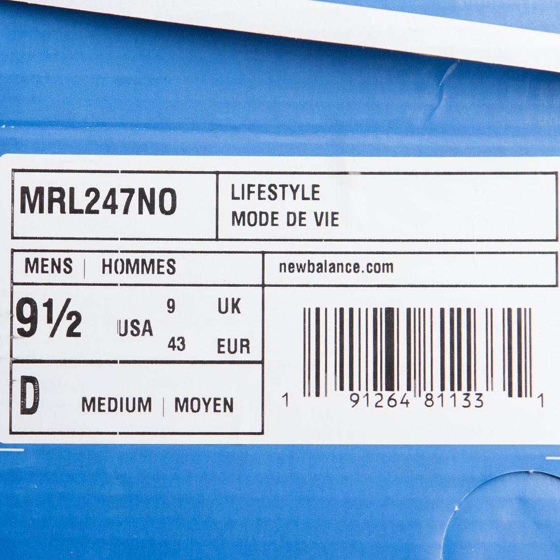 nouvel nouvel nouvel équilibre hommes 247 cuir blanc mrl247no olive 0570a0
