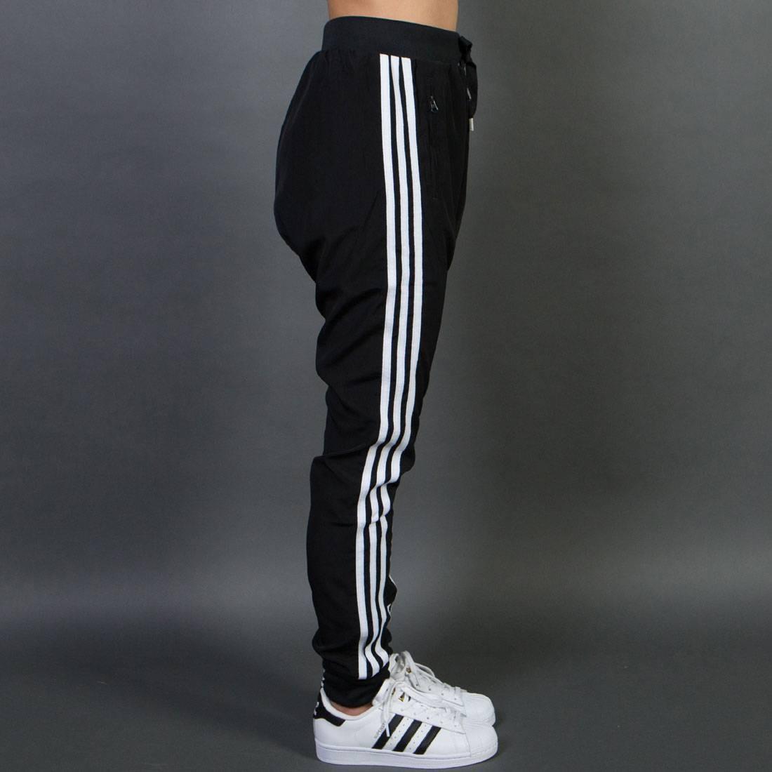 Details about Adidas Women Drop Crotch Pants black