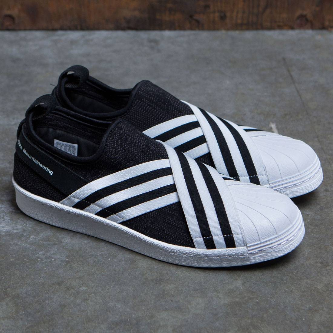 pretty nice 72595 43f52 Adidas Men White Mountaineering Superstar Slip-On Primeknit (black / core  black / footwear white)