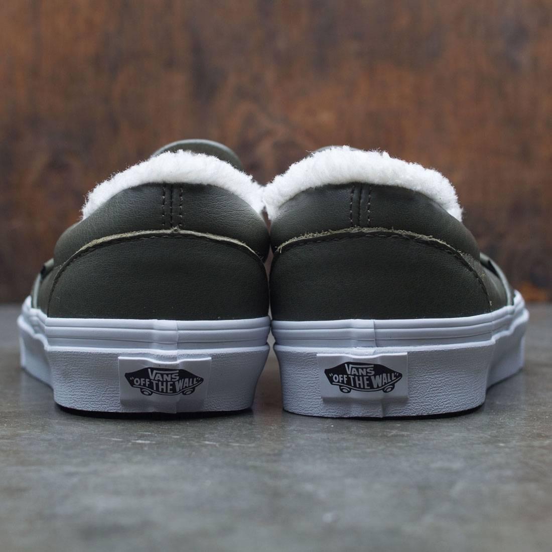 8053031de7 Vans Men Classic-Slip On - Leather (green   grape leaf)