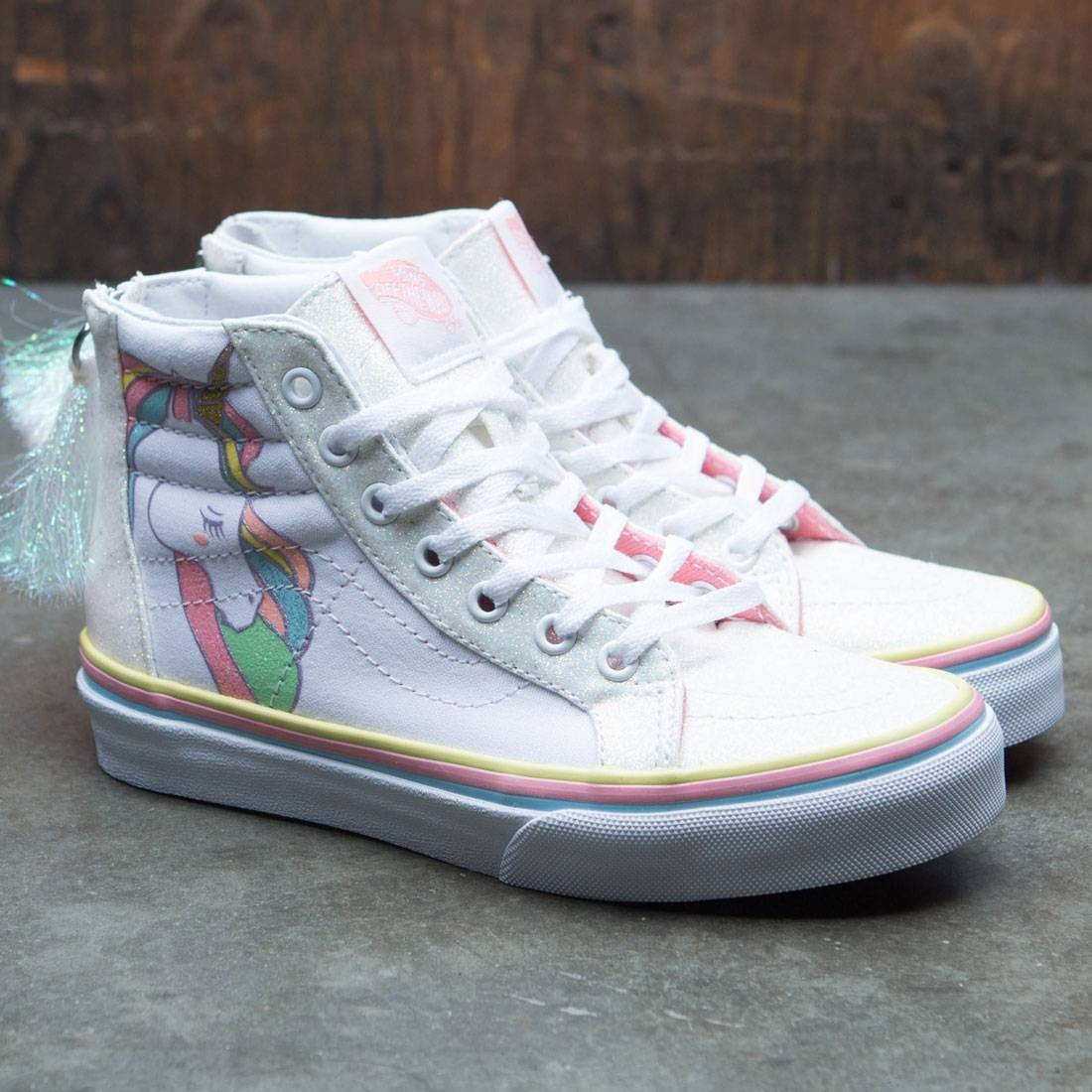 Vans Big Kids SK8-Hi Zip - Unicorn (multi   rainbow) 7c49db784