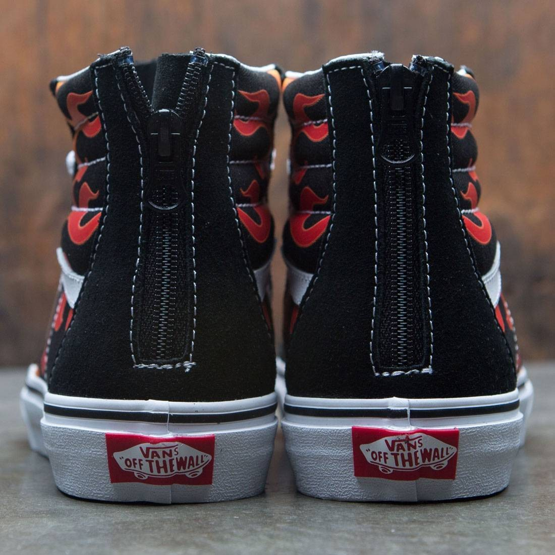 Vans Big Kids SK8-Hi Zip - Flame (black   red) 4a0f51d2e