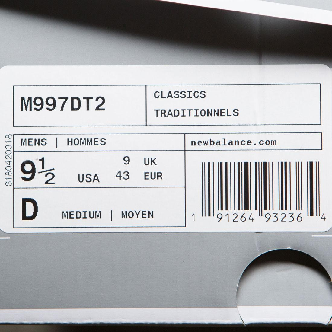 nouvel équilibre hommes 997 couleurs m997dt2 in - made in m997dt2 usa argent argent Hommes the 323097