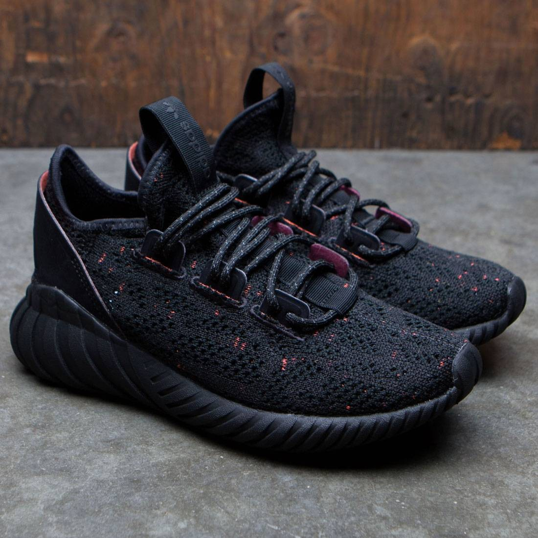 Adidas Big Kids Tubular Doom Sock Primeknit J (black core black trace olive)