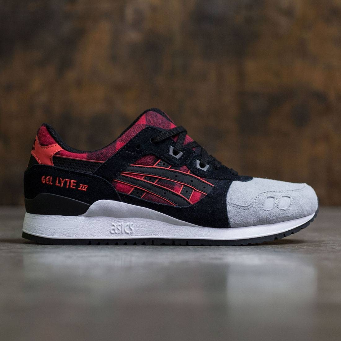 red and black asics gel lyte iii