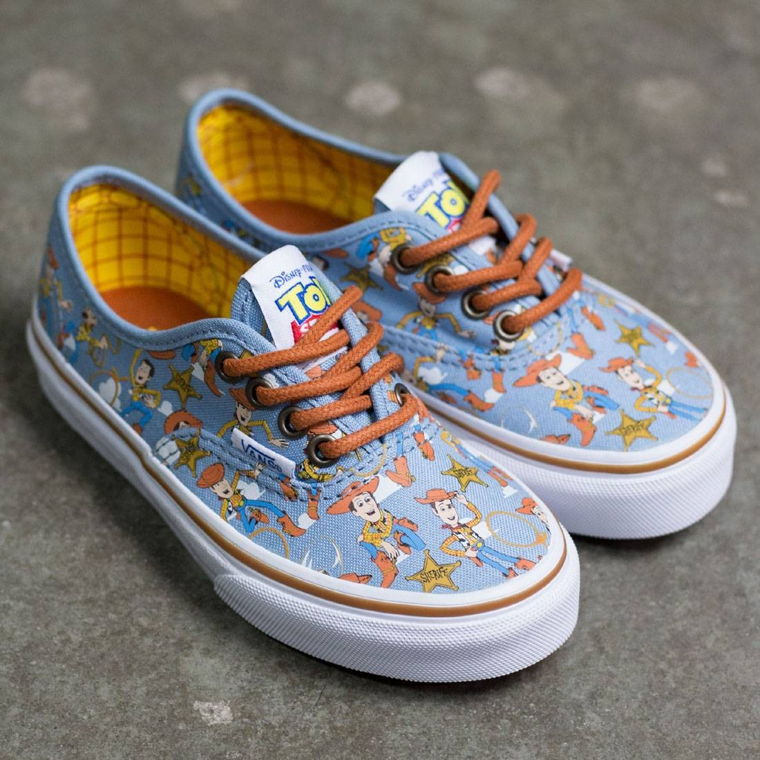3f6a576a7bb8f3 Vans x Disney Pixar Toy Story Little Kids Authentic - Woody (brown   white)