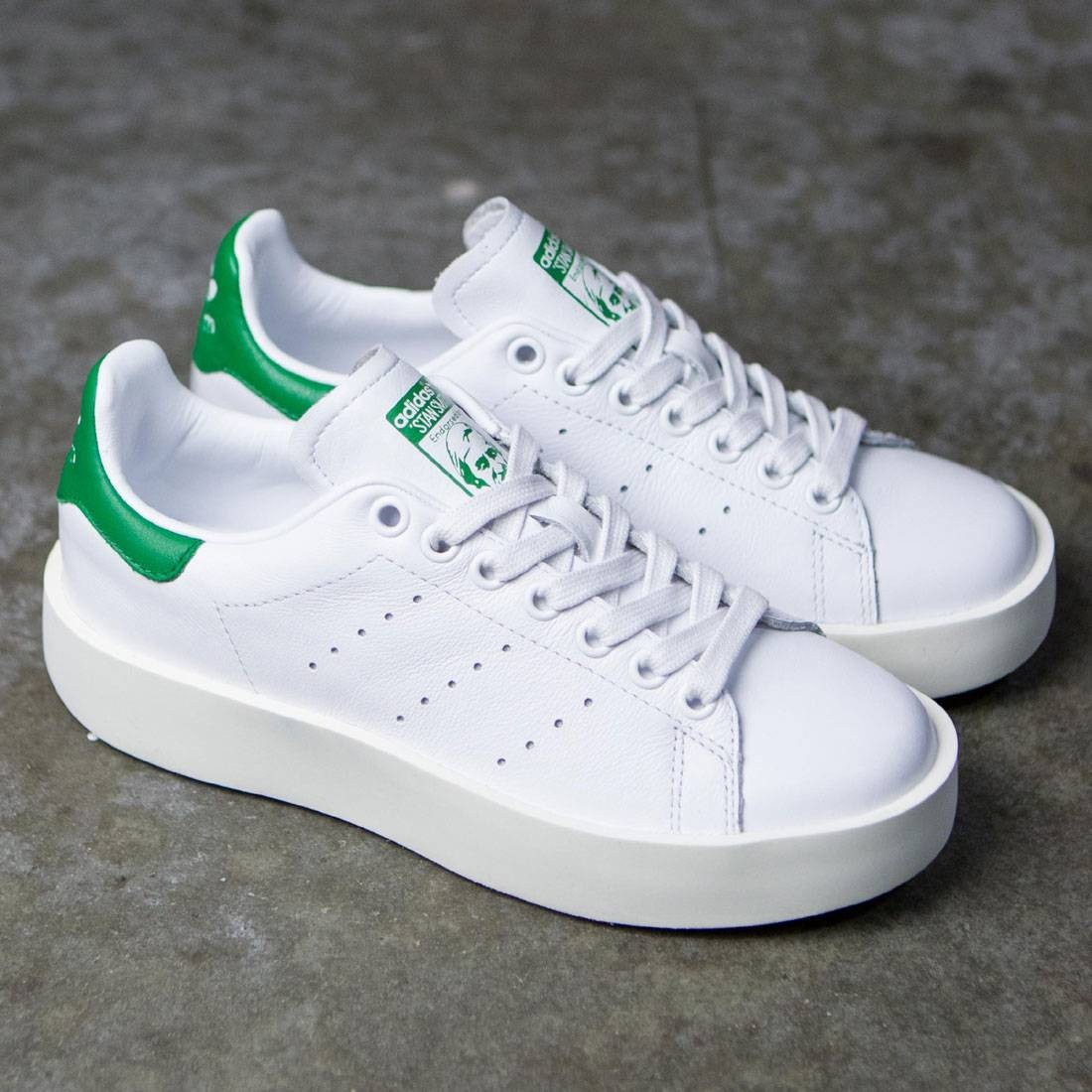 hot sale online 500b0 377e1 Adidas Women Stan Smith Bold (white  footwear white  green)