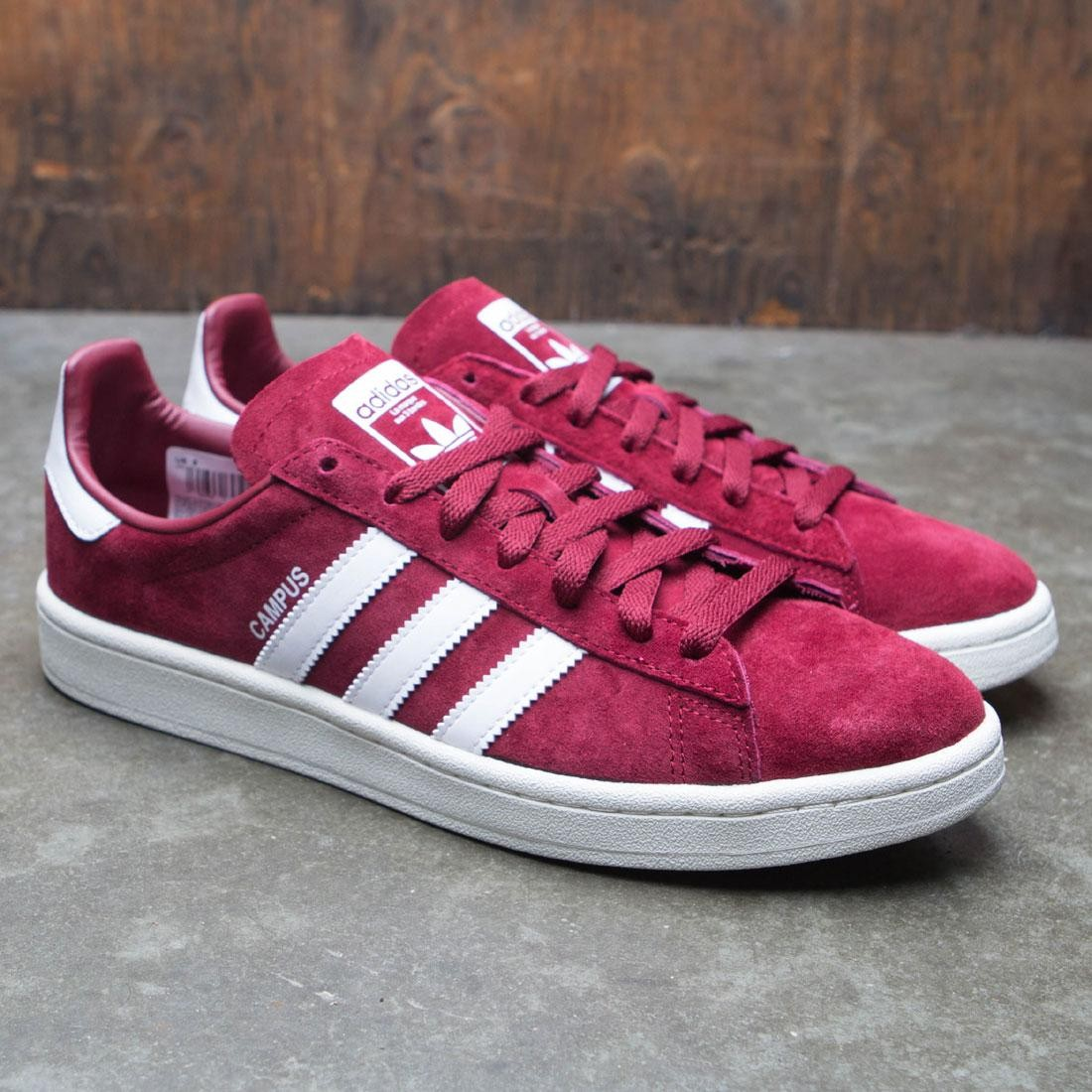 cacac4be3c7a95 Adidas Men Campus (burgundy   footwear white   chalk white)