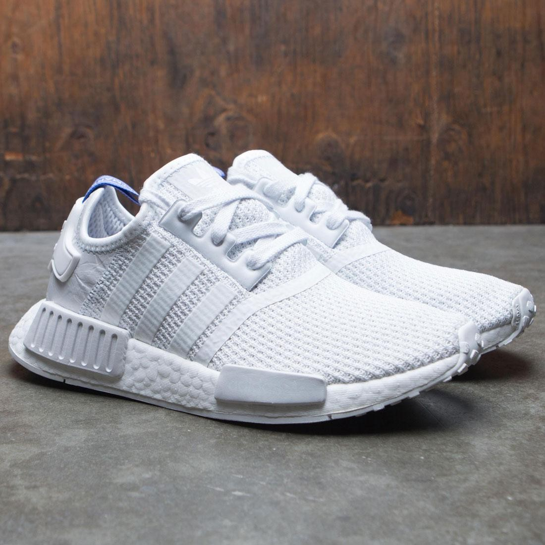 Front View Adidas Womens Nmd R1 W in White White Lilac in