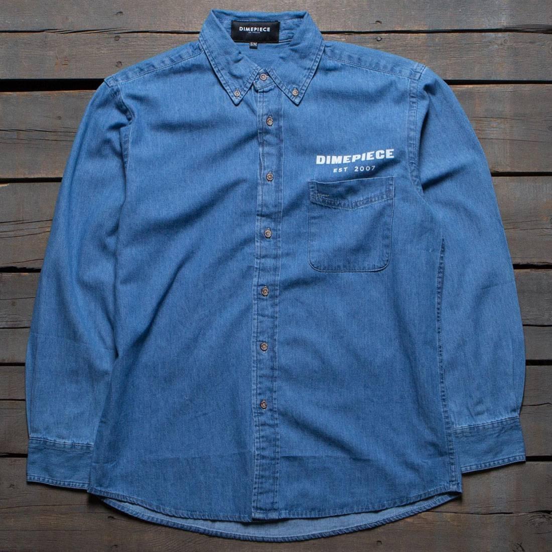 30c482962a Dimepiece Women Supply Denim Button Up Shirt (blue   denim)