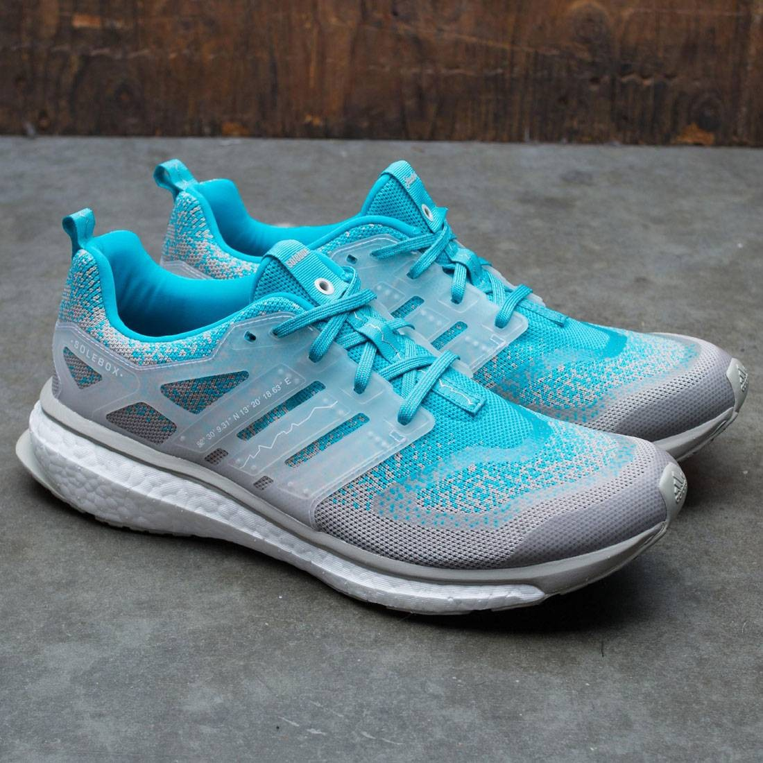 reputable site 7dd00 68252 Adidas Consortium x Packer x Solebox Men Energy Boost Sneaker Exchange (blue   energy blue  sesame  gum)