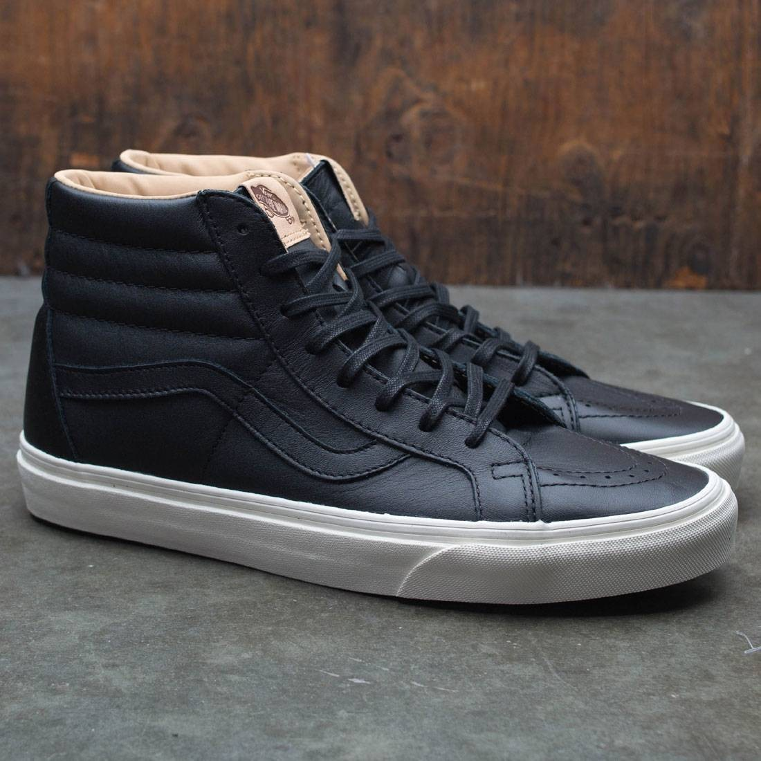 515972870cae0e Vans Men SK8-Hi Reissue - Lux Leather (black   porcini)