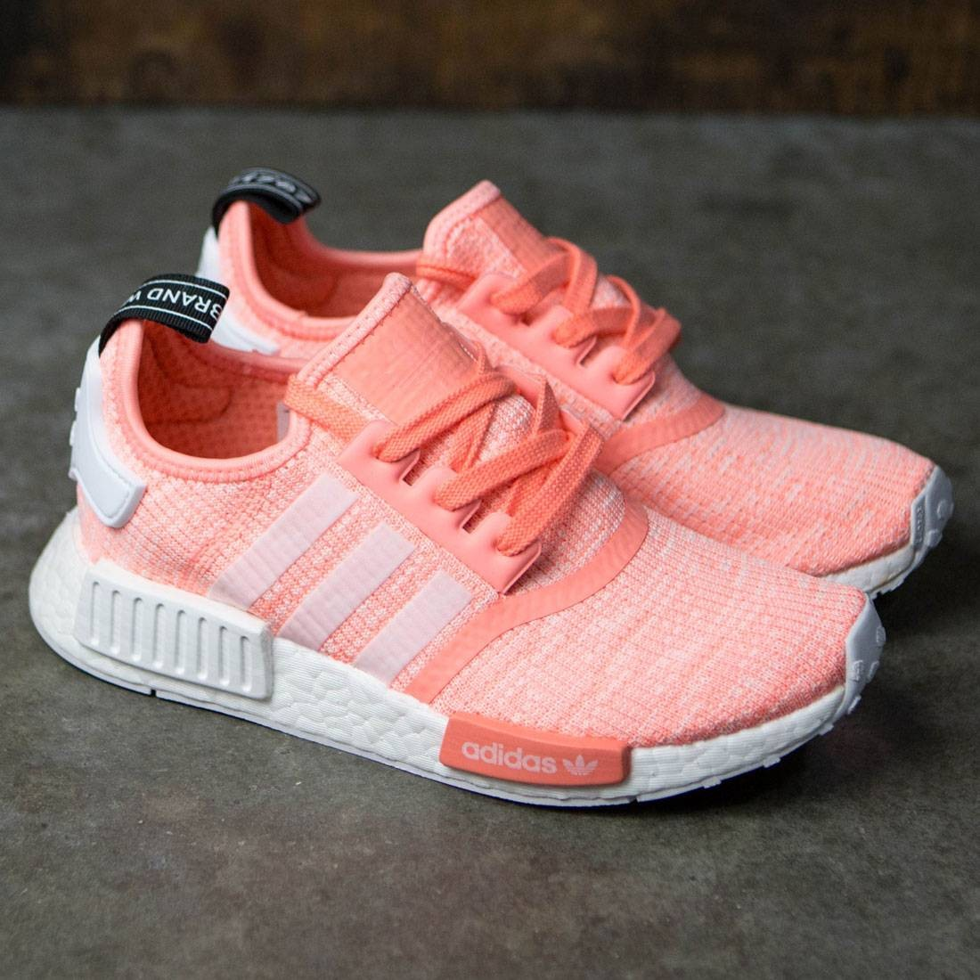 brand new a1398 4621c Adidas Women NMD R1 W (orange   sun glow   footwear white   haze coral)