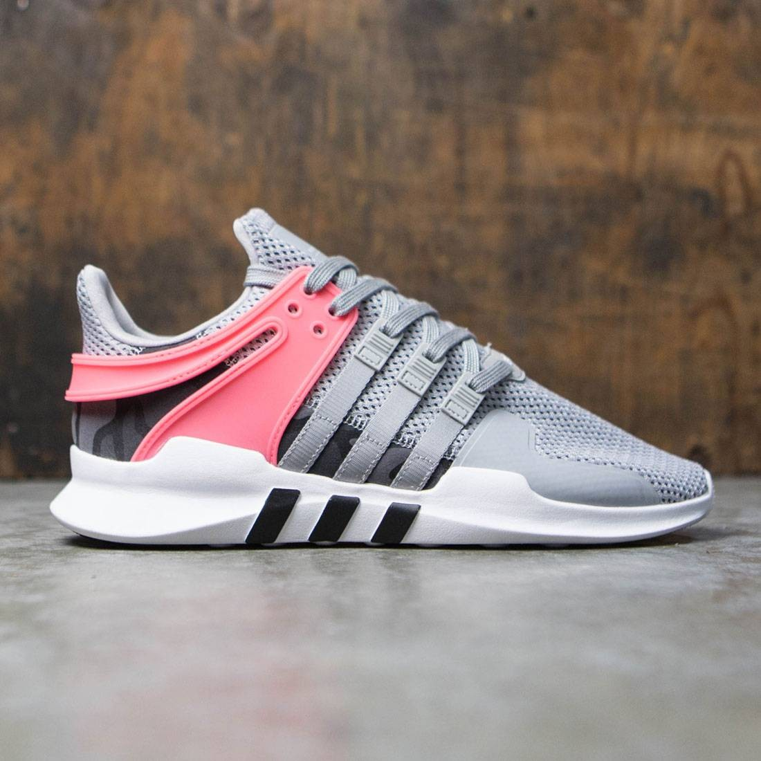 Adidas hombres EQT Support ADV Gray Solid GRIS Core negro Turbo