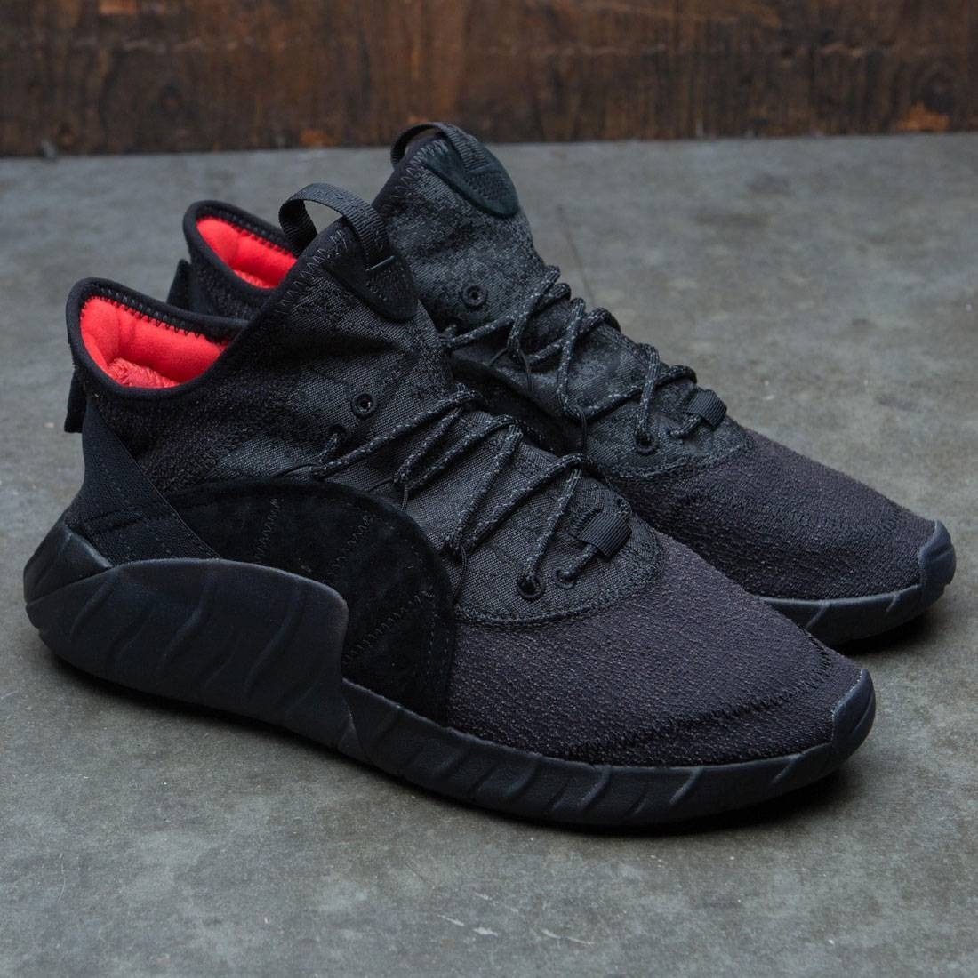 size 40 57d8f 99197 Adidas Men Tubular Rise (black   core black   core red)