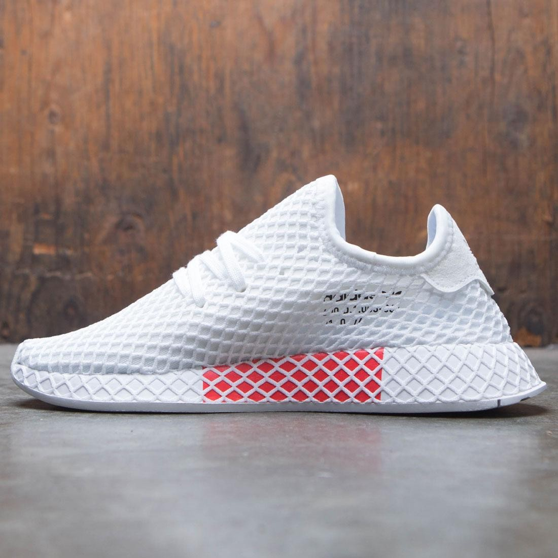 outlet store 43308 461fb Adidas Big Kids Deerupt Runner J (white  footwear white)