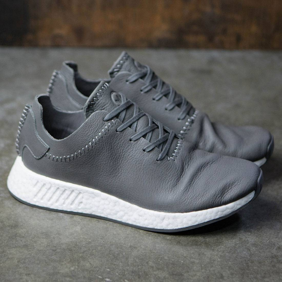 dd90091d5320 Adidas x Wings + Horns Men NMD R2 Leather (gray   ash   off white)