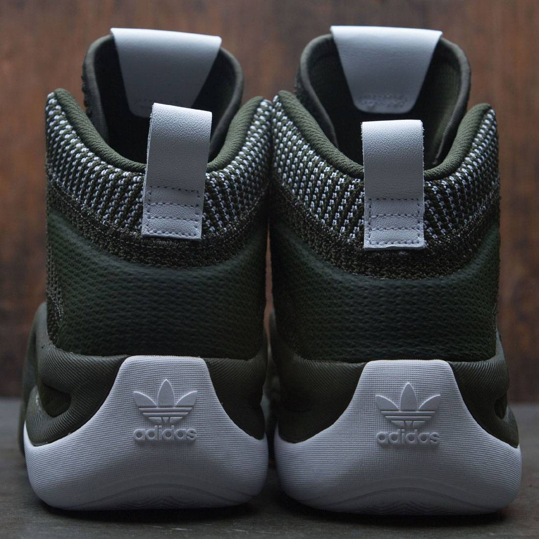 BY3604 Adidas Men Crazy 8 ADV Primeknit olive night cargo footwear white