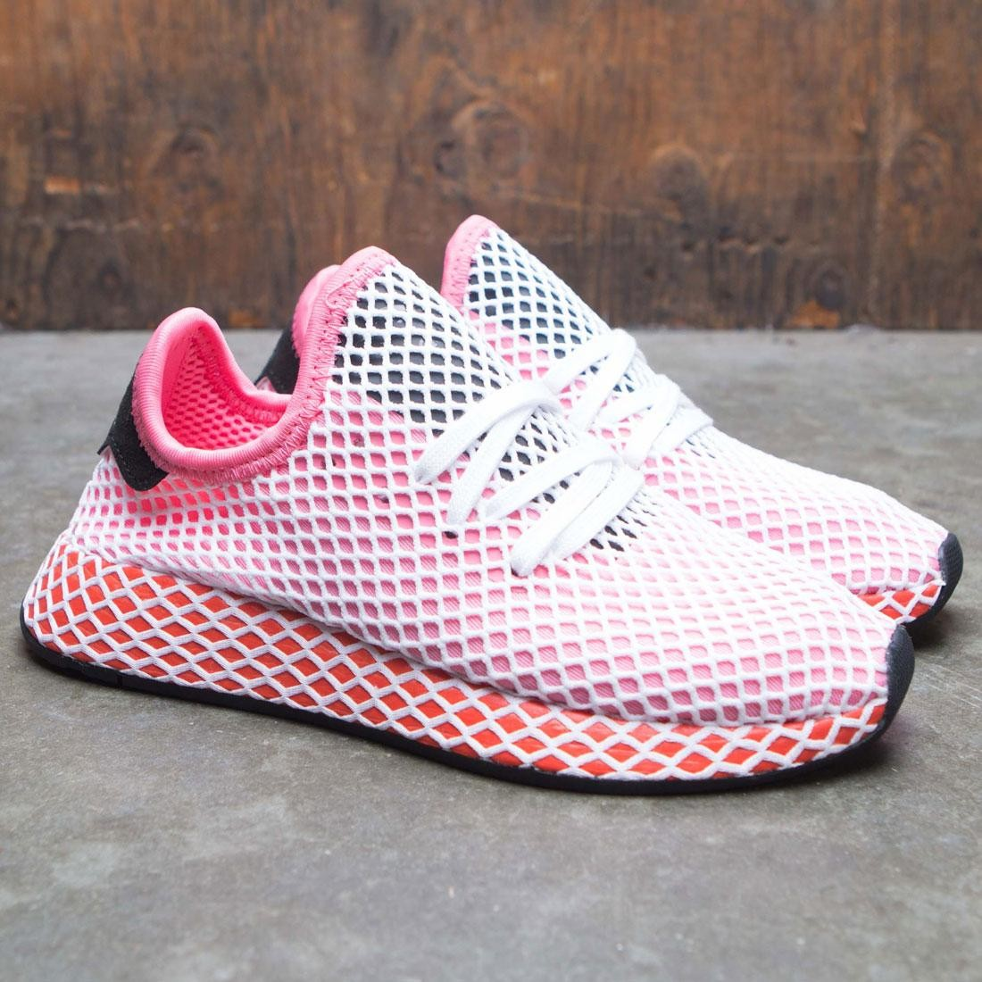 83d1a36d5 Adidas Women Deerupt Runner W (pink   chalk pink   bold orange)