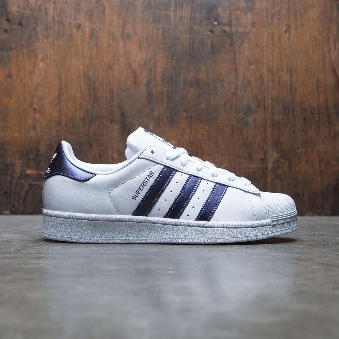 adidas superstar purple white