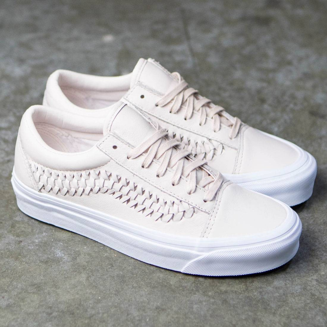 37753bb678 Vans Women Old Skool Weave DX - Leather (delicacy)