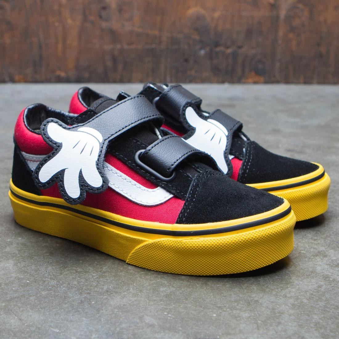 03ad326baf Vans x Disney Big Kids Old Skool V - Mickey (red   yellow   hug)