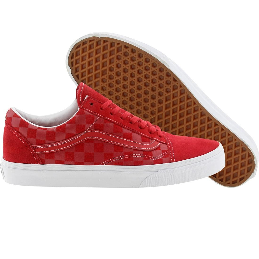 9cbae54228 Vans Old Skool Reissue CA Embossed Check (red   formula one)