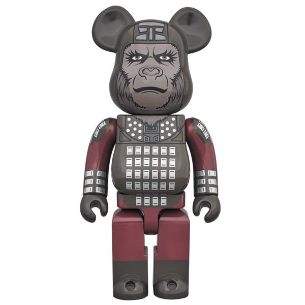 PREORDER - Medicom Planet of the Apes General Ursus 1000% Bearbrick Figure (gray)