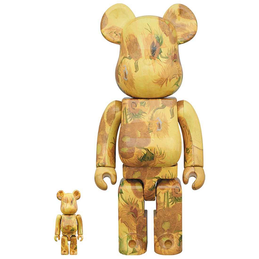 PREORDER - Medicom Van Gogh Museum Sunflowers 100% 400% Bearbrick Figure Set (yellow)