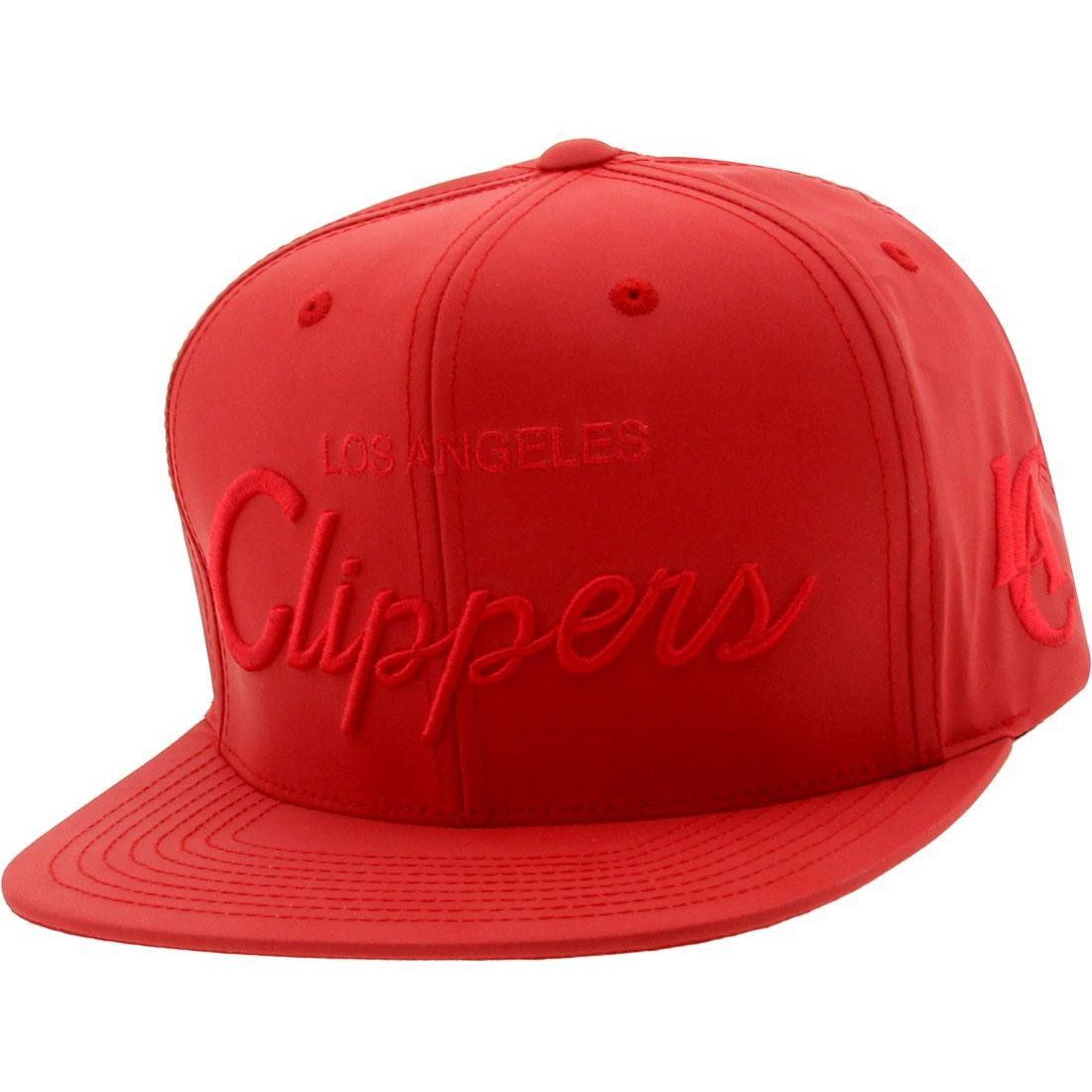 Mitchell And Ness Los Angeles Clippers 3M Crown Snapback Cap (red)