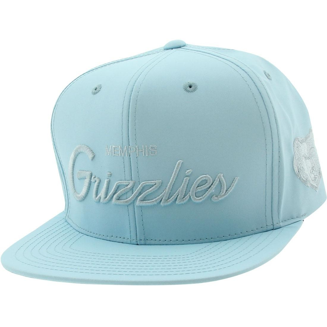 a0d515553aaa40 top quality mitchell and ness memphis grizzlies 3m crown snapback cap blue  light blue 685f2 4809c