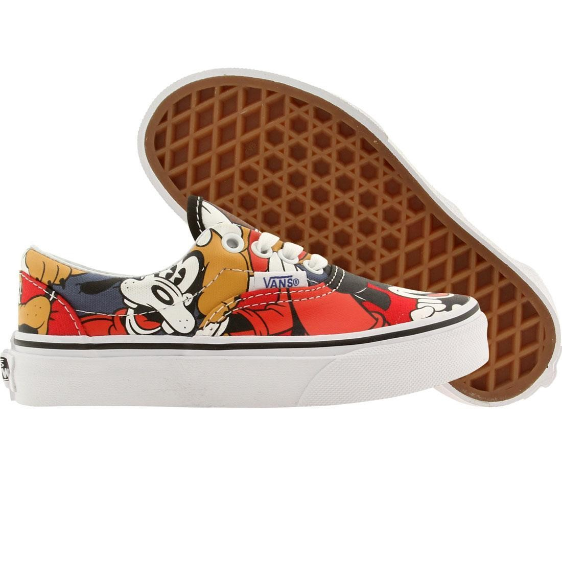 7a44306a88e8b5 Vans x Disney Little Kids Era - Mickey   Friends black red