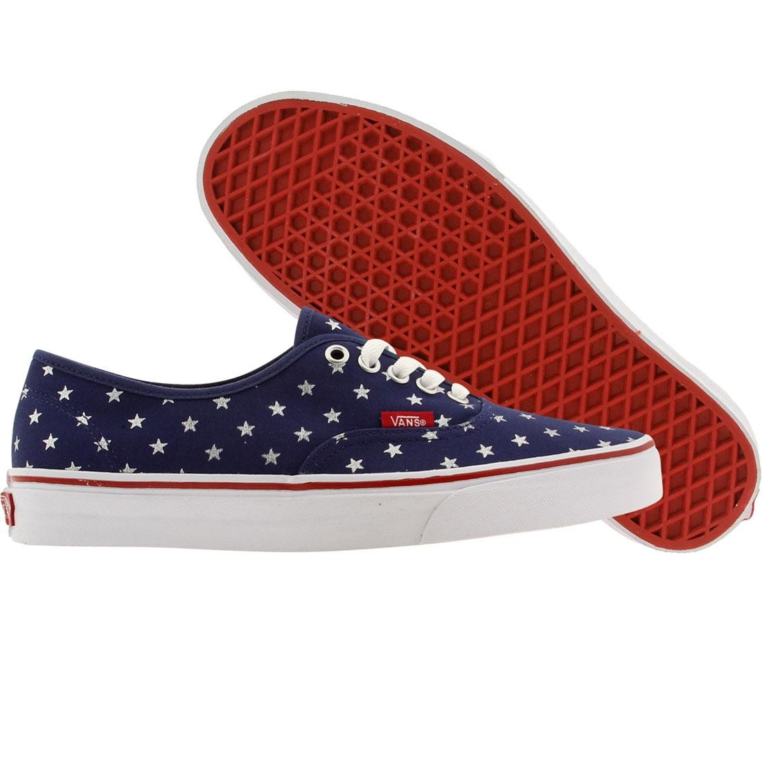 Vans Men Authentic - Studded Stars (red / blue)