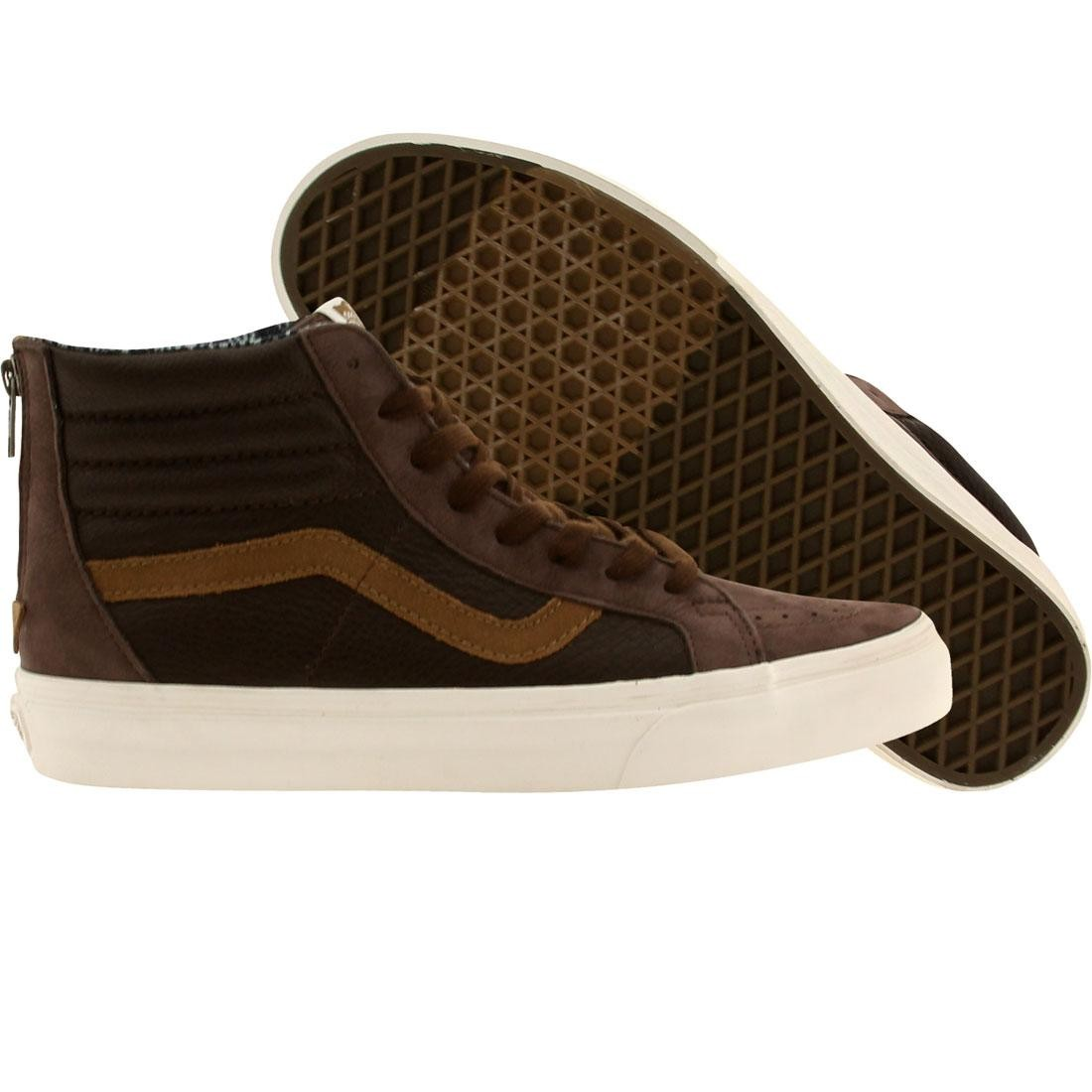Vans Men Sk8-Hi Zip CA - Leather Nubuck (brown / coffee)