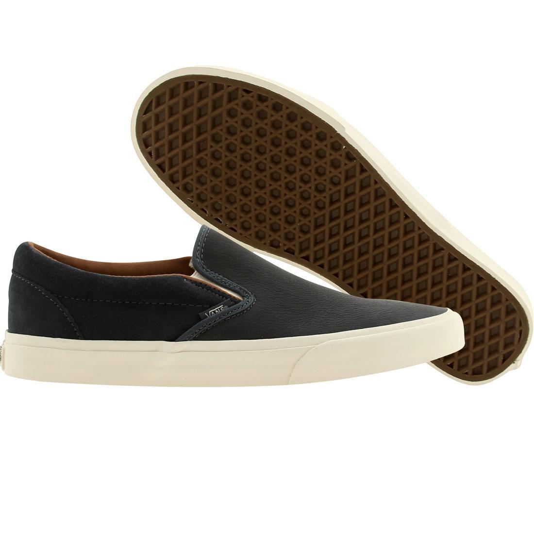 Vans Men Classic Slip On Ca Torino Leather (navy / dark slate)