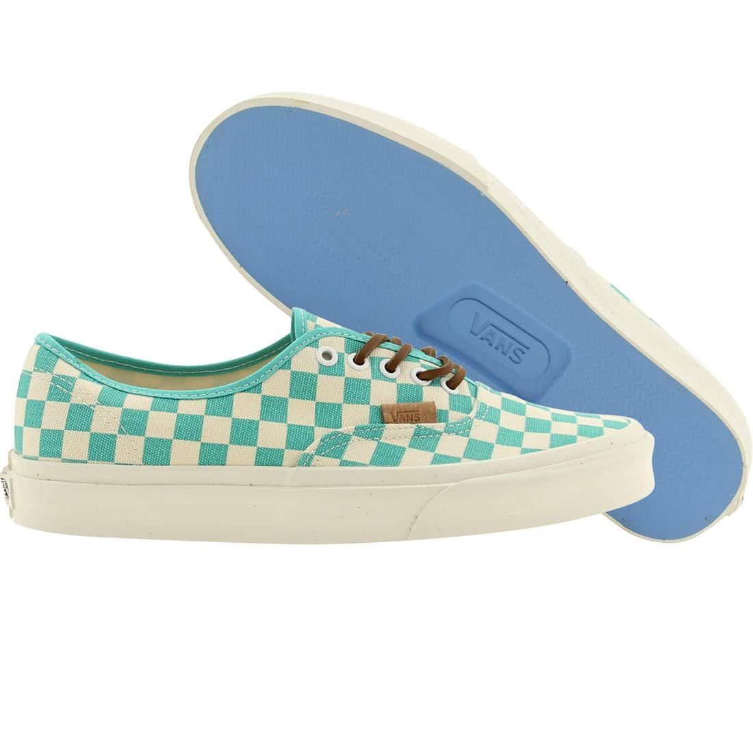 Vans Men Authentic Ca Checker (white / waterfall)
