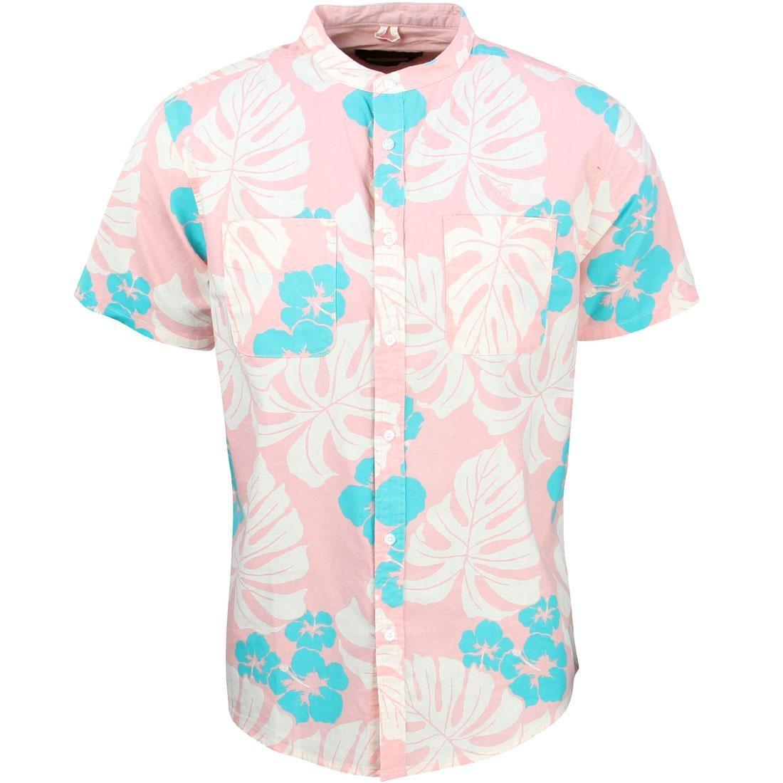 10 Deep Men Beach Bum Stand Collar Shirt (pink)