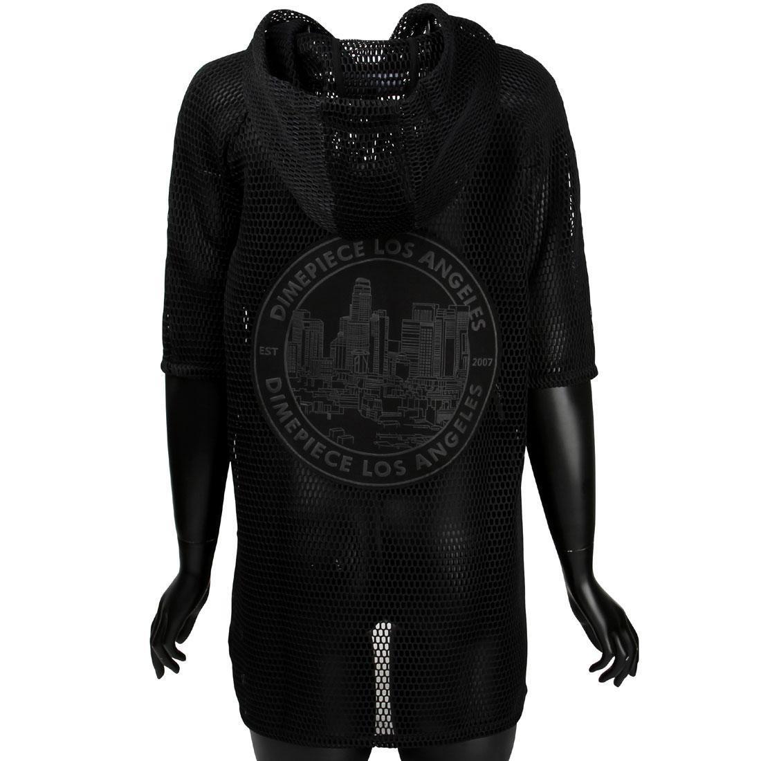Dimepiece Women Dimepiece Seal Mesh Poncho Jacket (black)