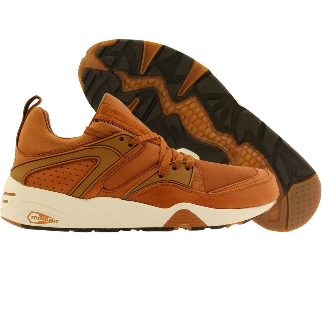 Puma Men Trinomic Blaze Of Glory NL brown nubuck leather