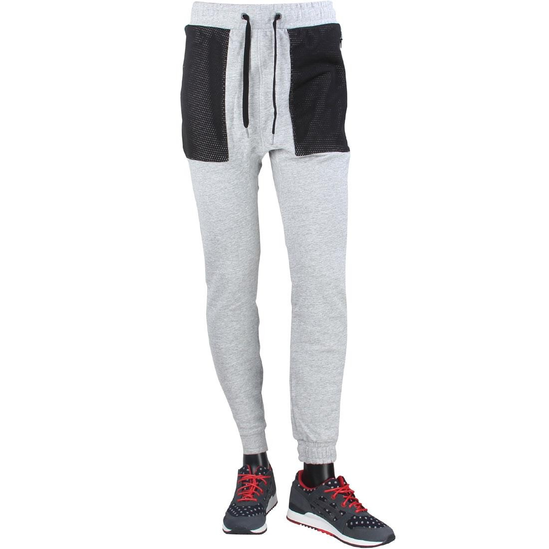 Zanerobe Men Montage Dropshot Zip Jogger Pants (gray / grey marle)
