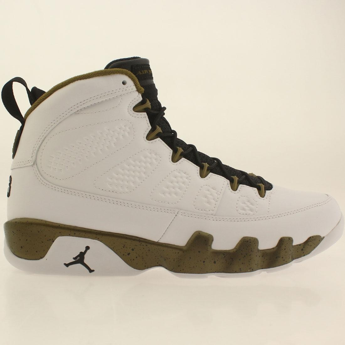 b58944d6355fab Jordan Men Air Jordan 9 Retro white black militia green