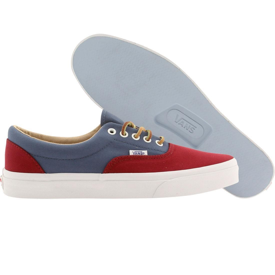 Vans Men Era Ca Brushed Twill (red / bkngrd / stl)