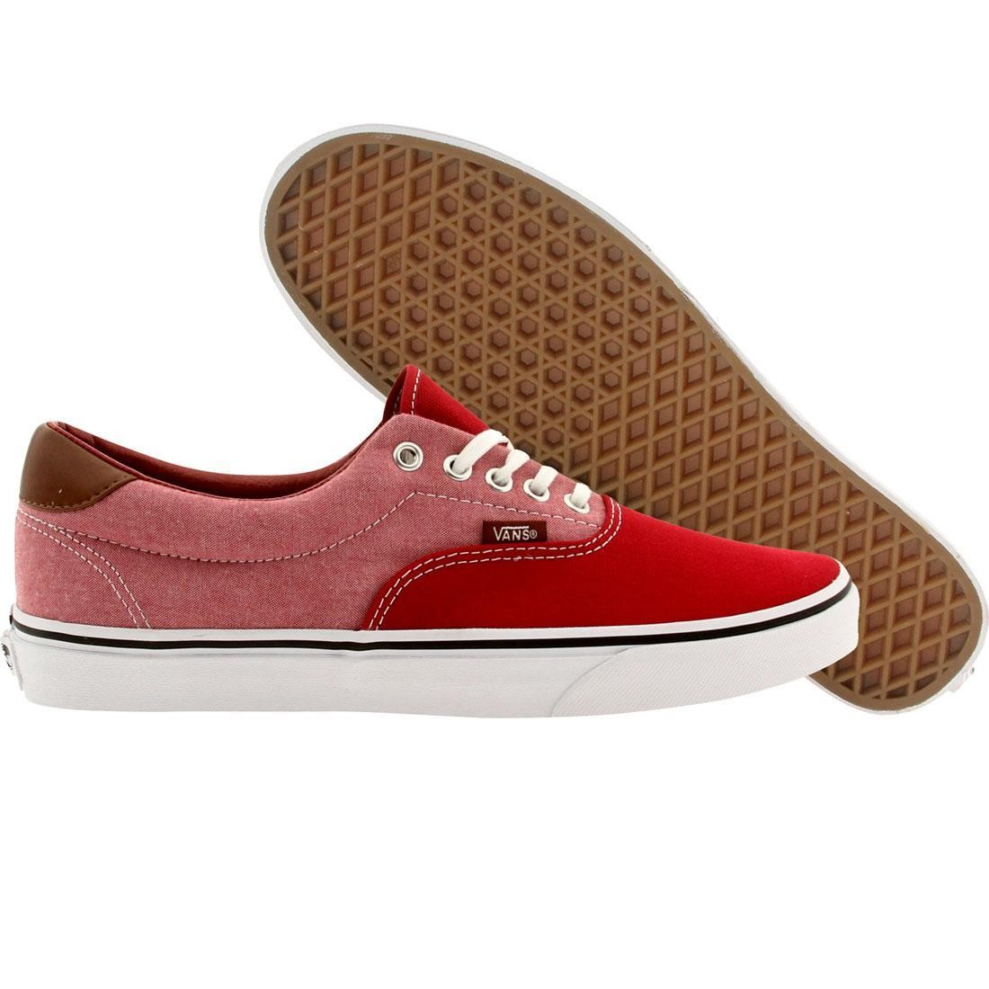 Vans Men Ear 59 Canvas And Chambray (red / chili)