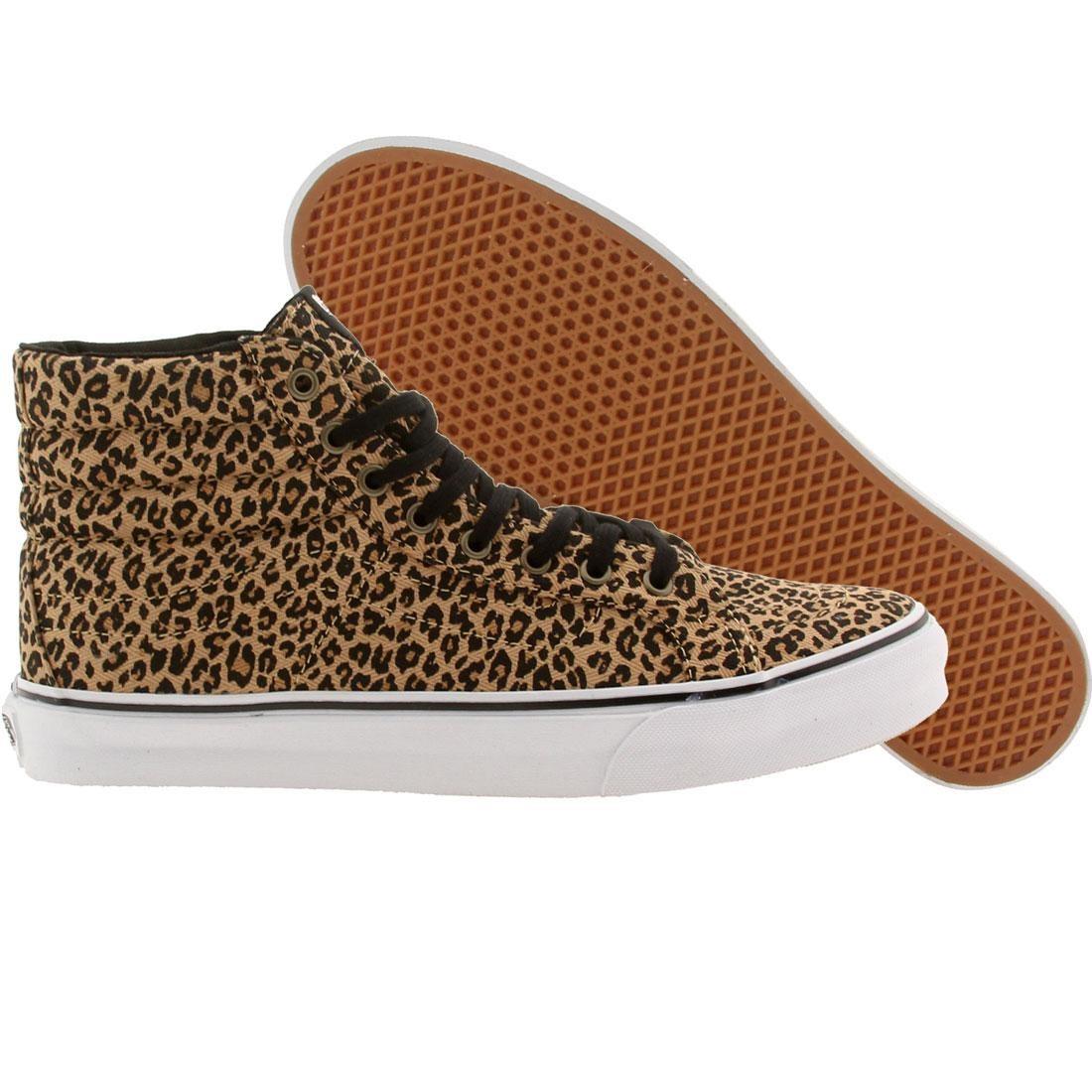 Vans Men Sk8-Hi Slim Leopard (brown / herringbone)